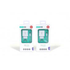 Cетевой Адаптер Xipin EU-09T 2.1A+USB Кабель Type-C 3A